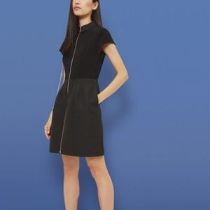Ted Baker black cocktail dress with zipper detail
